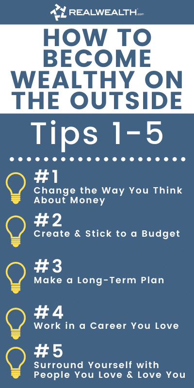 Infographic Highlighting - How to Become Wealthy on the Outside 1-5