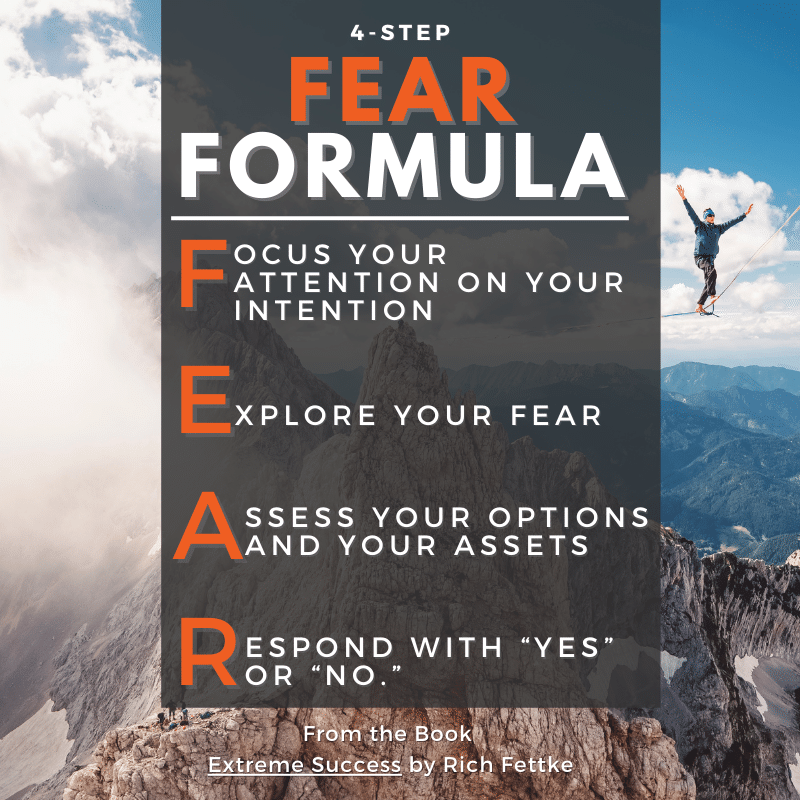4 Step Fear Formula for How To Overcome Fear by Rich Fettke