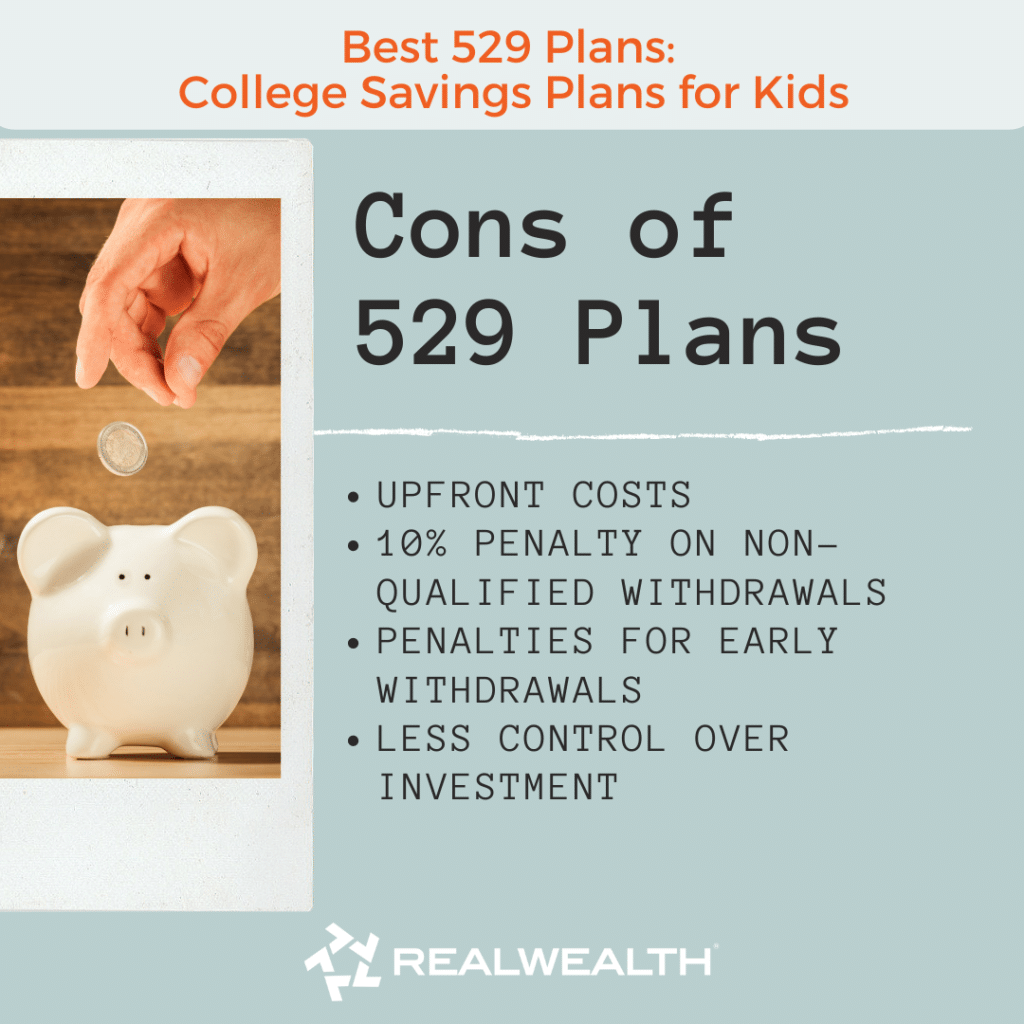 Image Highlighting Cons of 529 Plans