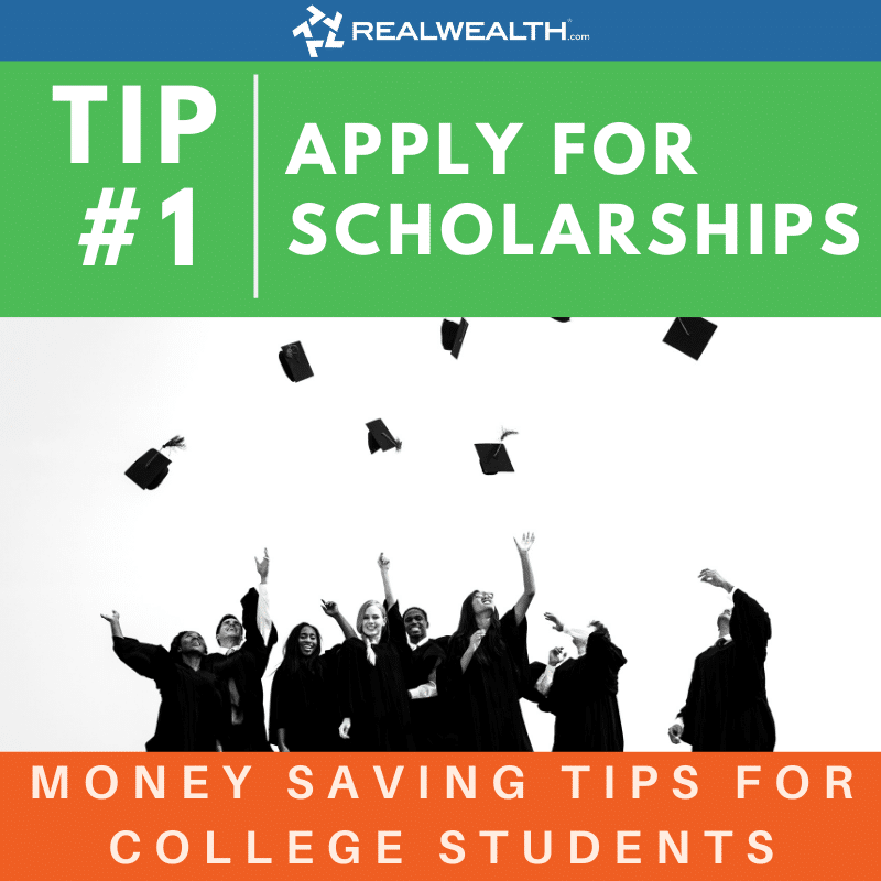 Image Highlighting - Money Saving Tips For College Students Tip 1 Apply For Scholarships