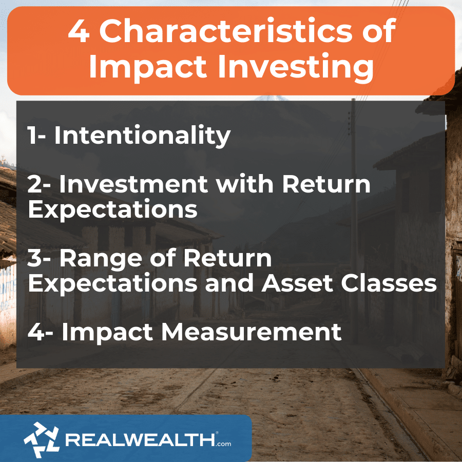 Infographic Highlighting - 4 Characteristics of Social Impact Investing