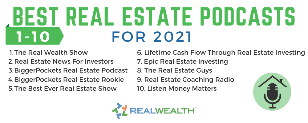Infographic Highlighting - Best Real Estate Podcasts 1-10