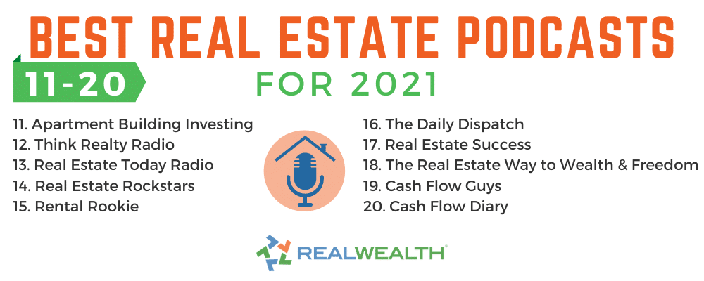 Infographic Highlighting - Best Real Estate Podcasts 11-20