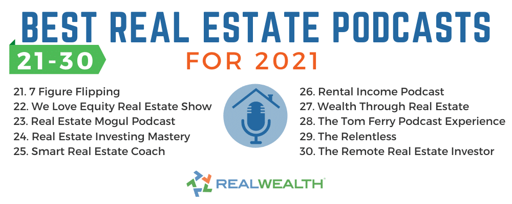 Infographic Highlighting - Best Real Estate Podcasts 21-30