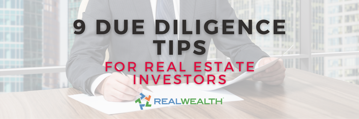 Banner Image for Article - Due Diligence in Real Estate 9 Tips for Smart Buyers